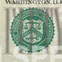 texto FIFTY grande sobre el sello verde