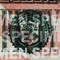 sello verde del Tesoro en el billete de $20
