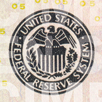 black Federal Reserve System seal