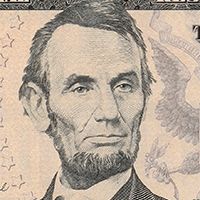 Lincoln portrait closeup