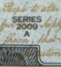Excerpt of a note showing the series year.