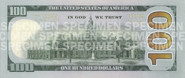Back of the $100 Note