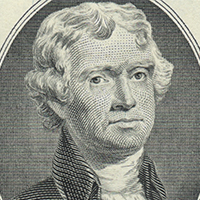 retrato impreso de Thomas Jefferson