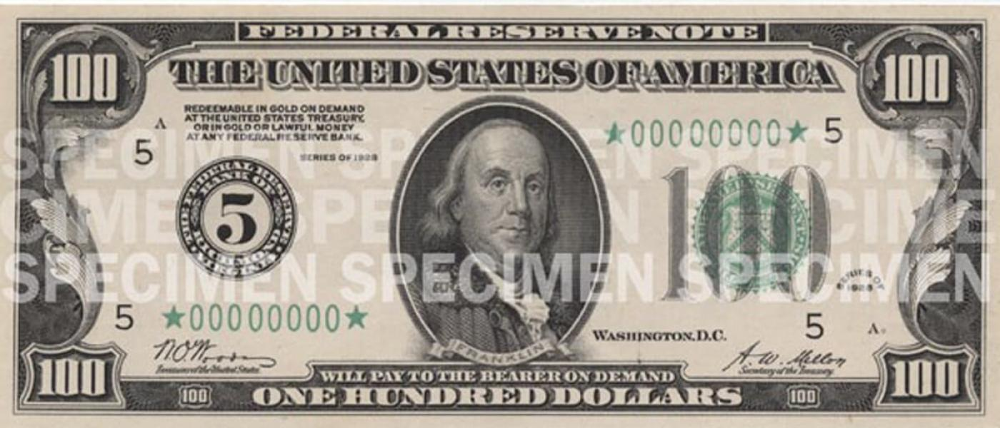 picture regarding Printable Play Money $100 identified as $100 Take note U.S. Forex Schooling Software program