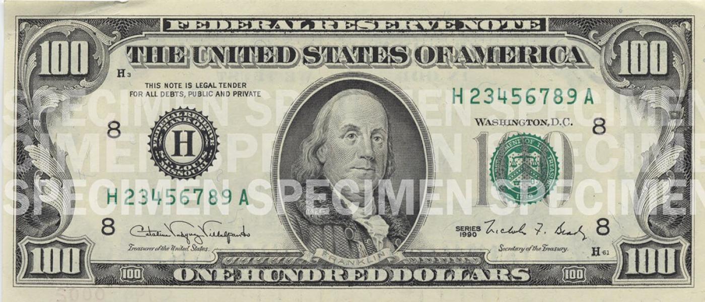 photo about Printable Play Money $100 named $100 Be aware U.S. Forex Schooling Software