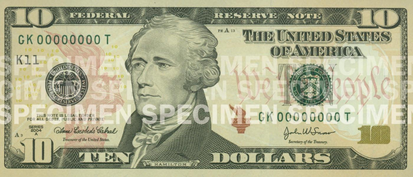 photo relating to Printable Play Money $100 identify $10 Take note U.S. Forex Education and learning Software