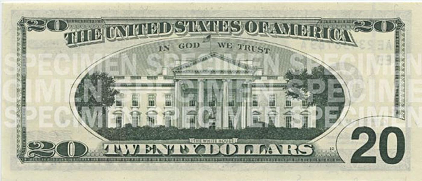picture regarding Printable Money Front and Back Real Size named $20 Observe U.S. Forex Instruction Software program