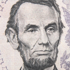 Face of Abraham Lincoln