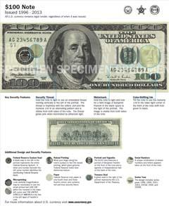 $100 Note (1996-2013)