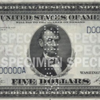 $5 Note (1914-1993)